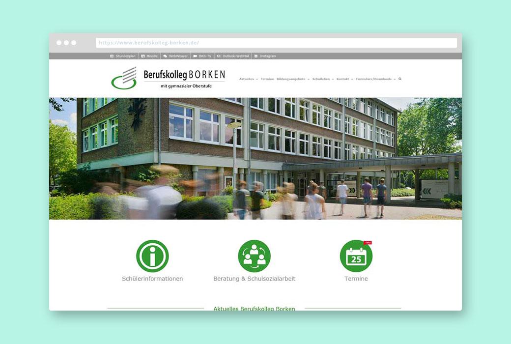Webdesign Referenz Berufskolleg Borken
