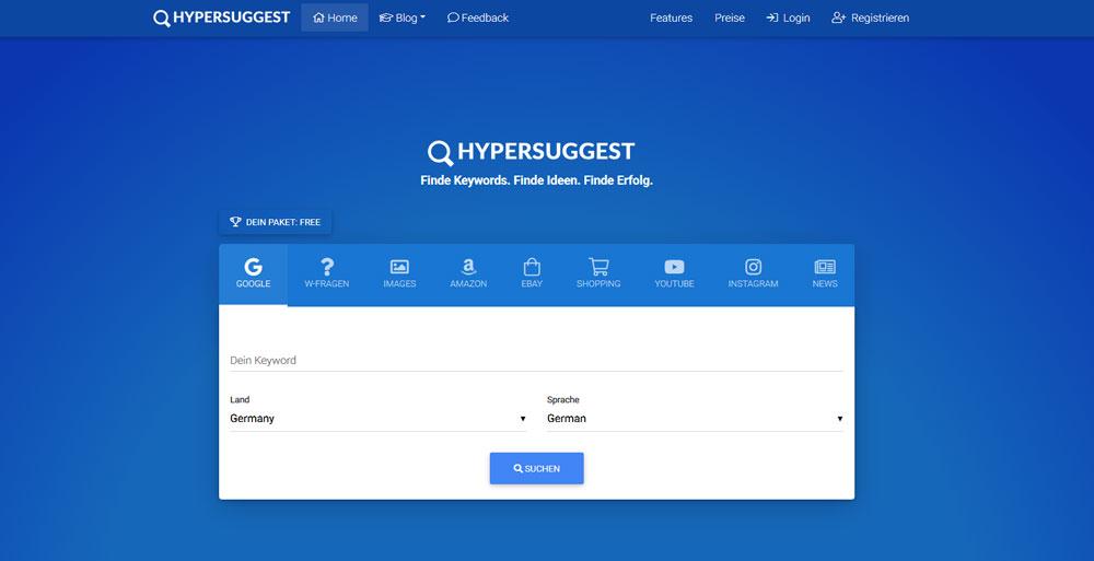 Keyword Recherche Tool HyperSuggest