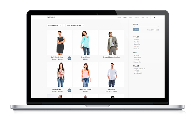 Laptop-Onlineshop Woocommerce