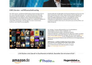 Webdesign Liwi-Verlag-Verlagsseite
