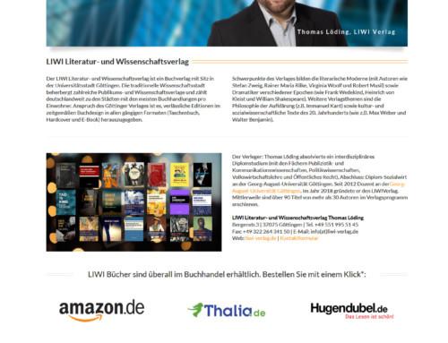 Webdesign & Entwicklung LIWI Verlag