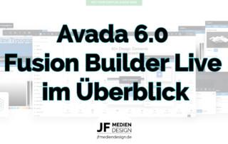 Avada 6 Live - Der Fusion Builder Live im Überblick
