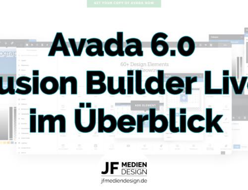 Avada 6 Fusion Builder Live – Der neue Frontend Editor im Überblick