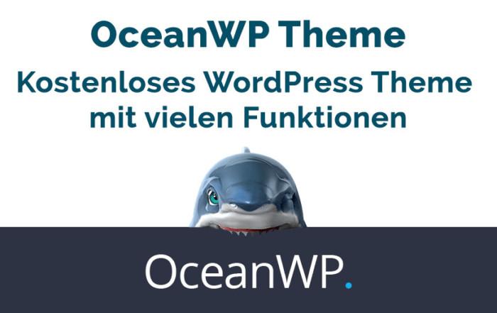 OceanWP Theme – Kostenloses WordPress Theme mit vielen Funktionen
