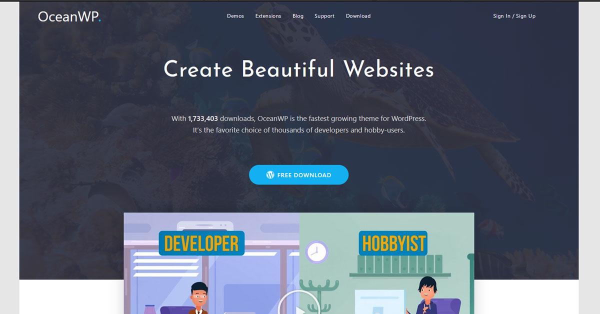 OceanWP-Theme-kostenloses WordPress Theme