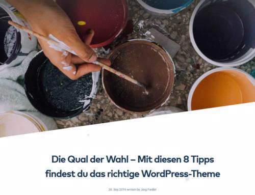 Raidboxes Gastbeitrag – WordPress Theme finden
