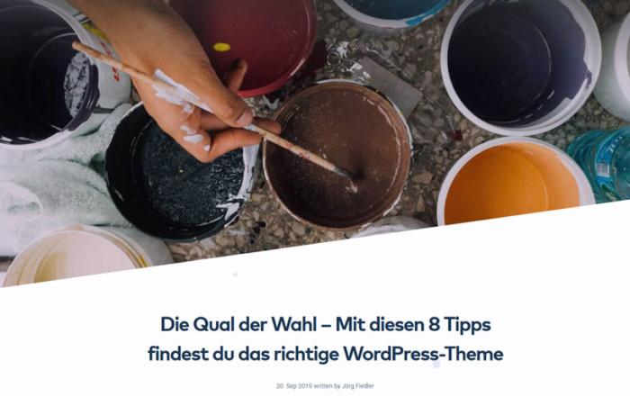Raidboxes Gastbeitrag - Das richtige WordPress Theme finden