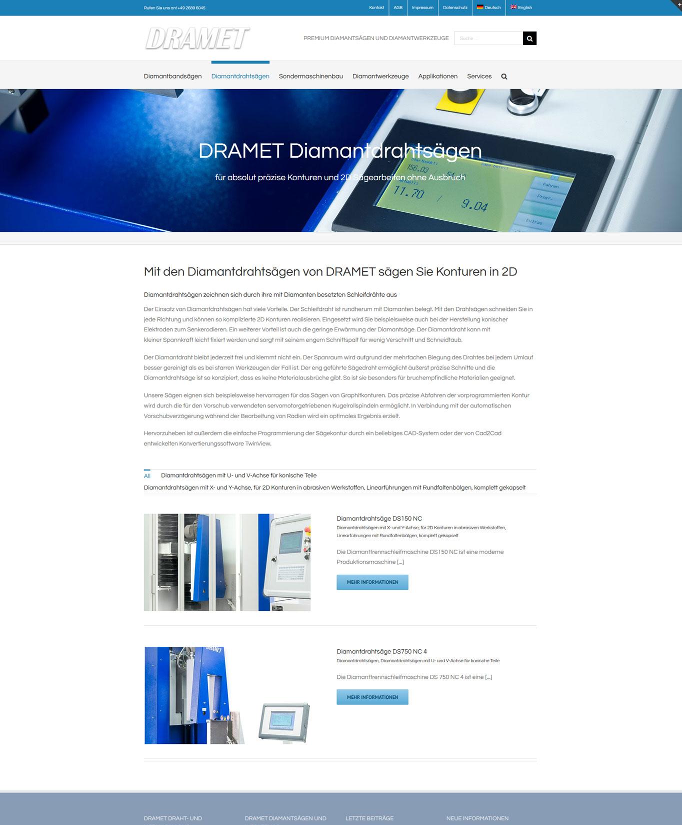 DRAMET Diamantdrahtsaegen DRAMET - SEO und Contentmarketing JF Mediendesign