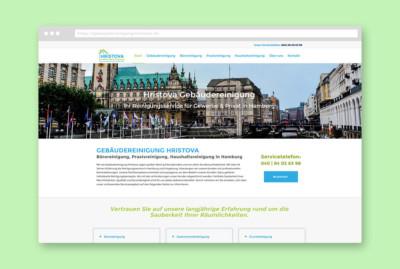 Webdesign Gebaudereinigung-Hristova Portfolio JF Mediendesign