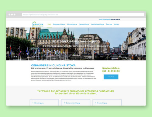 Gebäudereinigung Hristova – Webdesign & Grafik