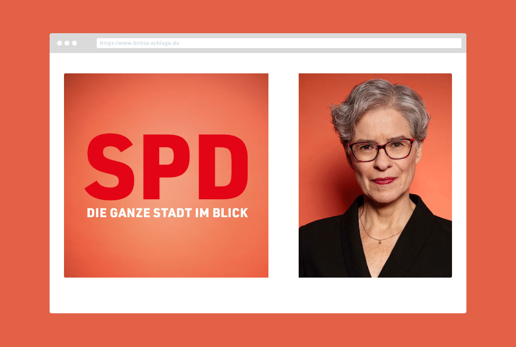 Britta Schlage SPD Hamburg - Webdesign JF Mediendesign