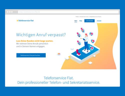 Telefonservice Flat – Webdesign