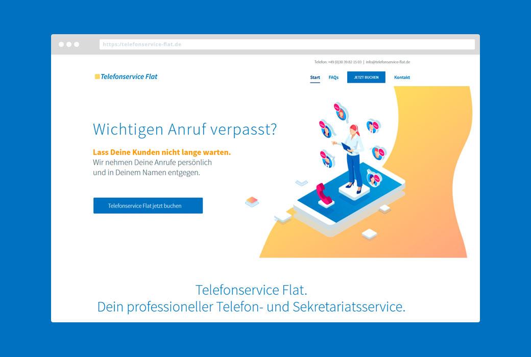 Webdesign telefonservice-flat.de