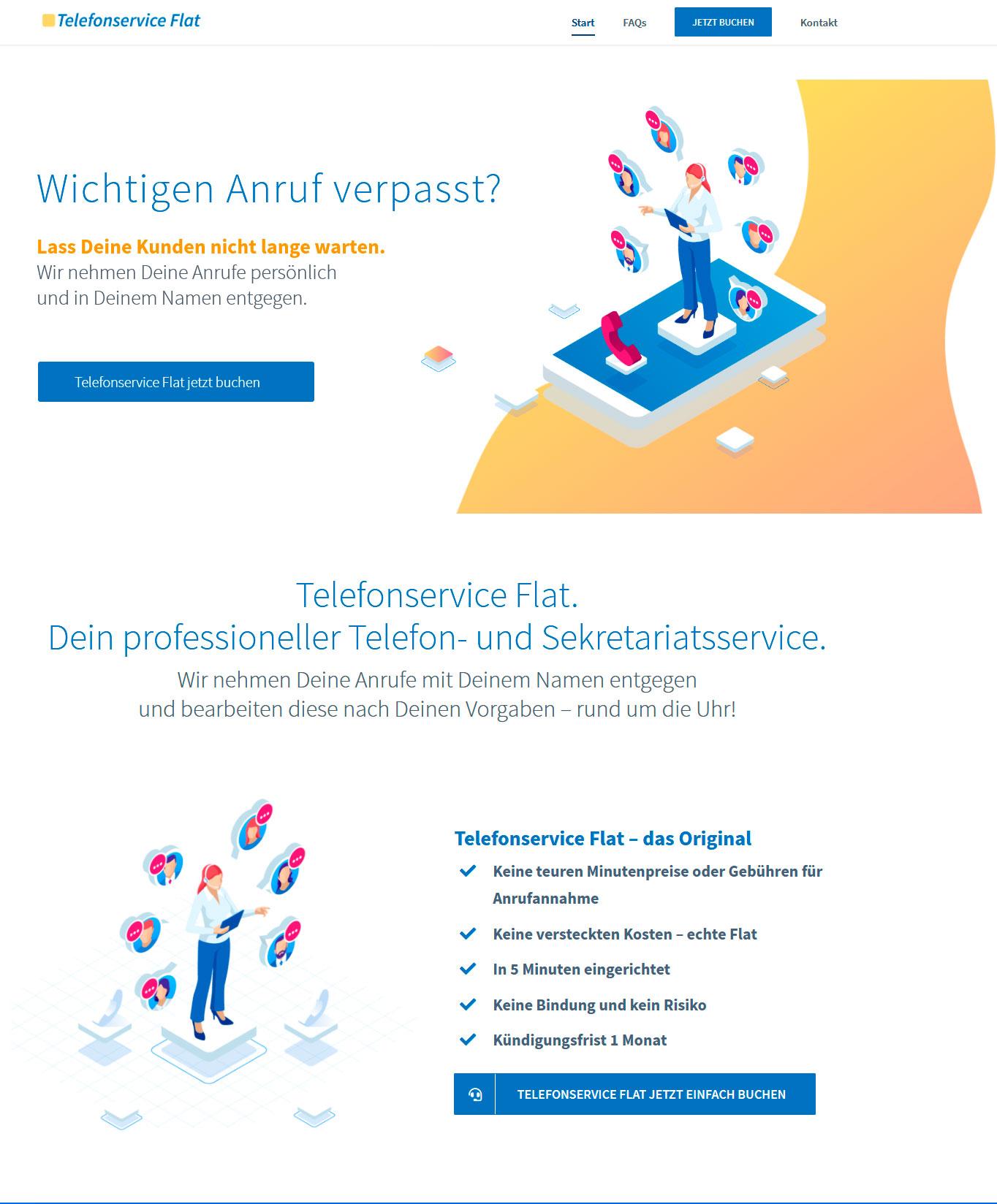 Telefonservice-Flat-Startseite