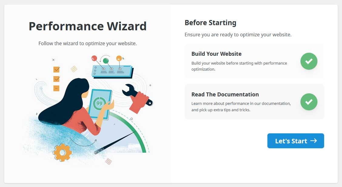 Avada 7.4 Performance Wizzard