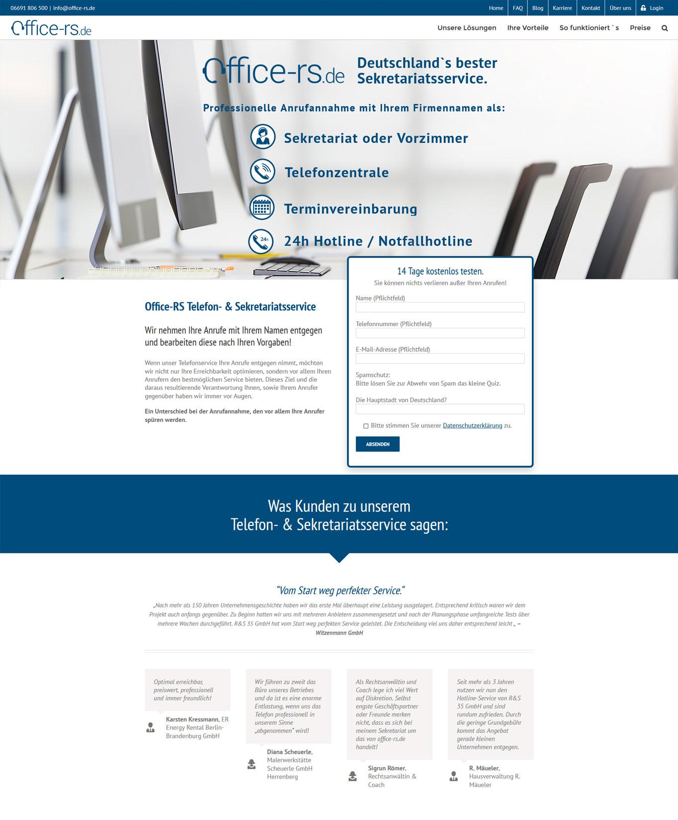 Office-rs-Startseite