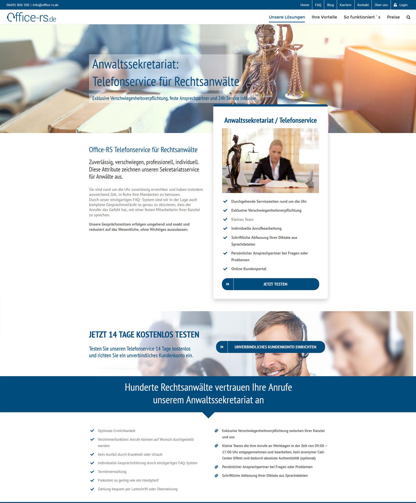 Office-rs-Telefonservice für Rechtsanwaelte