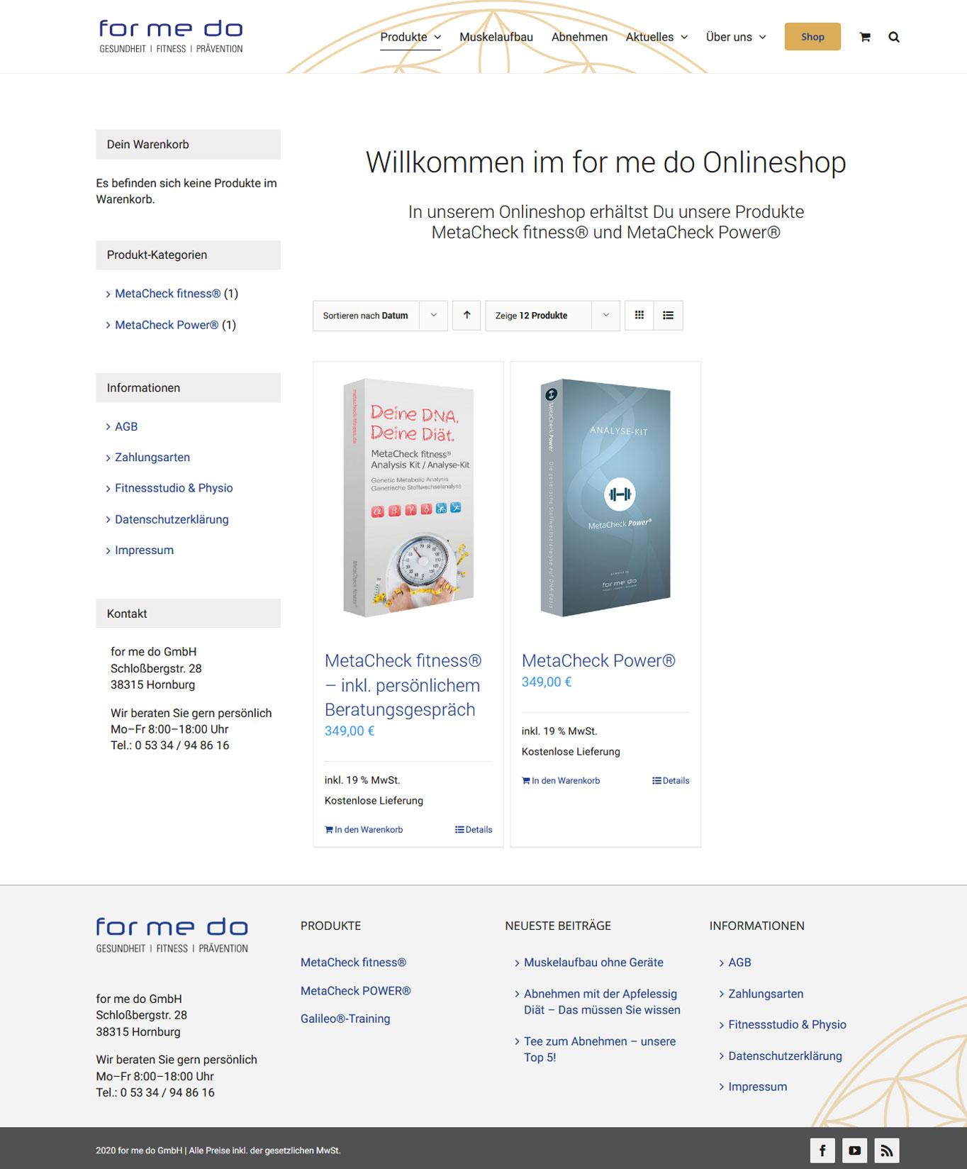 formedo onlineshop Webdesign formedo JF Mediendesign
