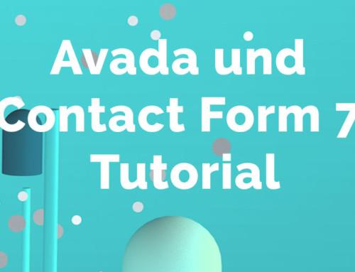Avada und Contact Form 7 Tutorial