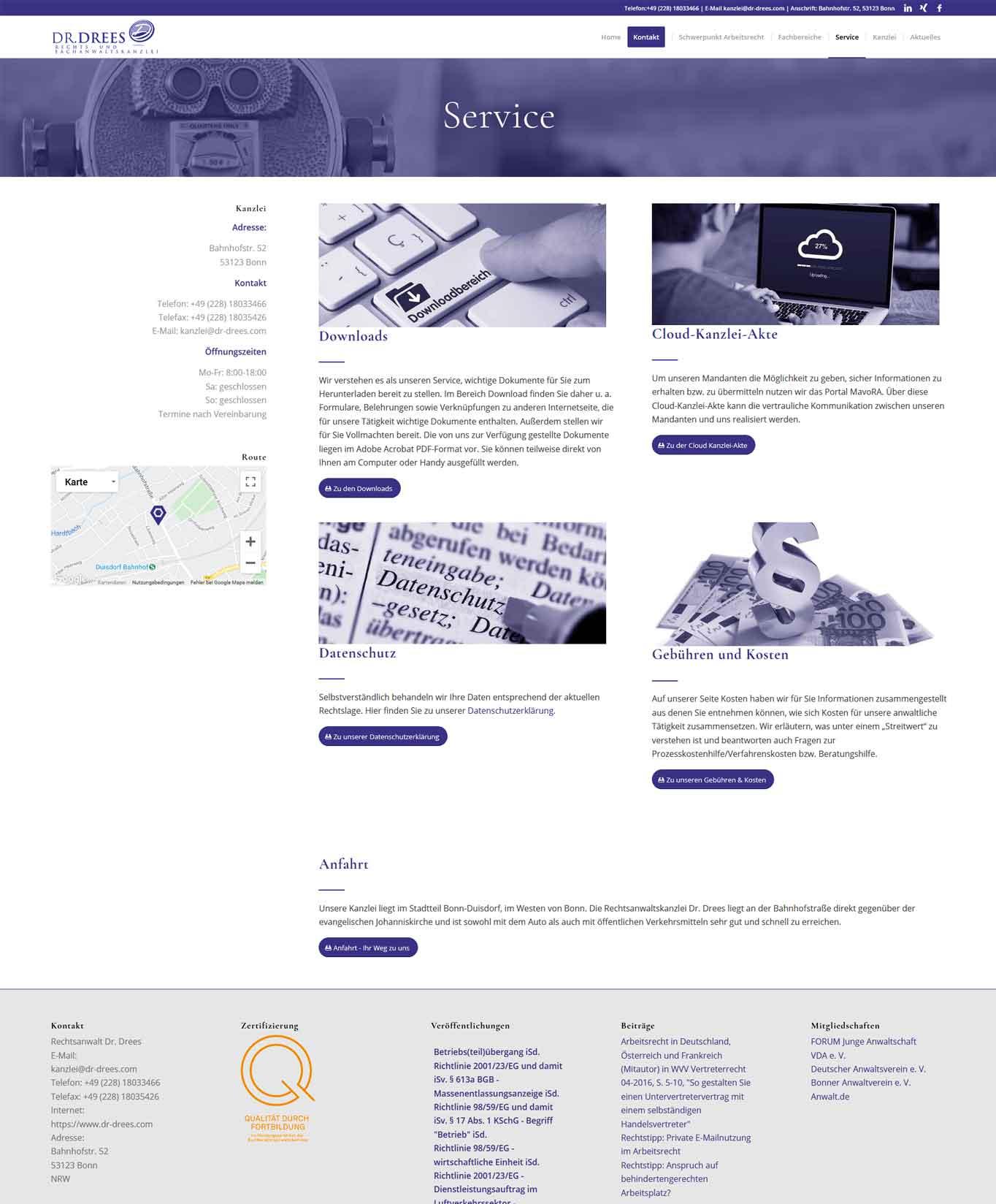 Dr Drees Service Webdesign Rechtsanwaltskanzlei Dr. Drees JF Mediendesign