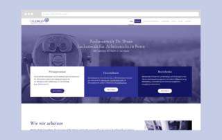 Webdesign Rechtsanwaltskanzlei Dr-Drees