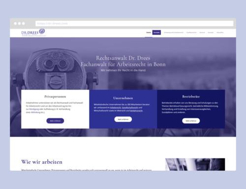 Webdesign Rechtsanwaltskanzlei Dr. Drees