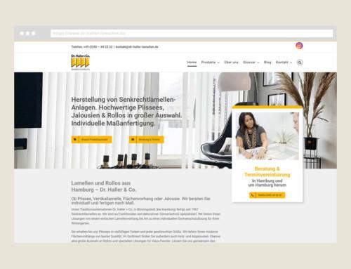 Webdesign Dr. Haller Senkrechtlamellen