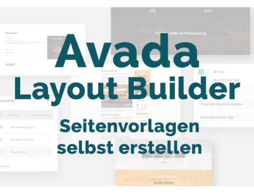 Avada Layout Builder – Seitenvorlagen selbst erstellen