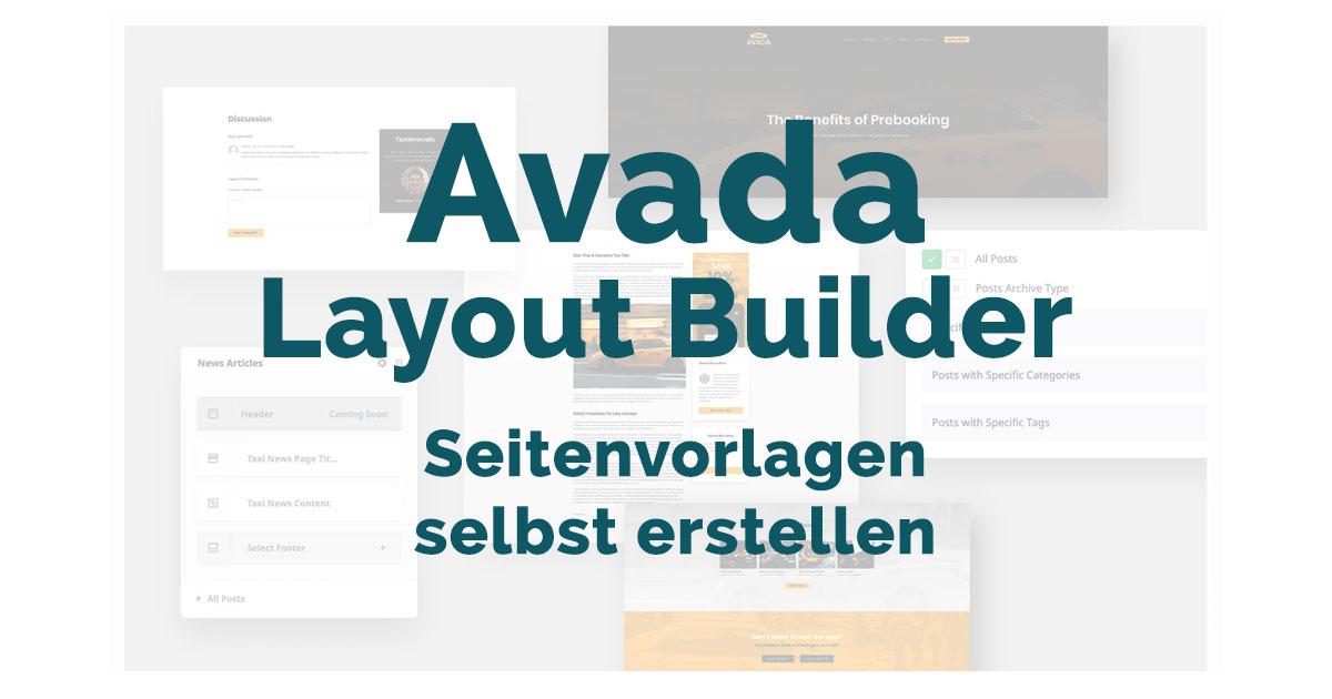 Avada Layout Builder-Seitenvorlagen selbst erstellen