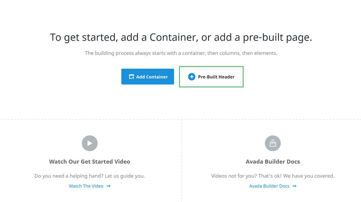 Prebuild Header Auswahl Avada Layout Builder - Seitenvorlagen selbst erstellen JF Mediendesign
