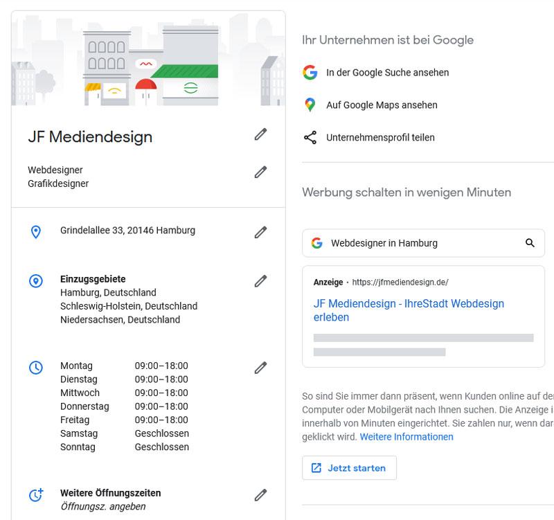 Erstelle ein Google My Business Profil