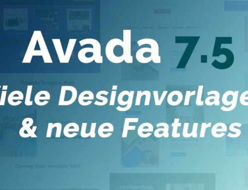Avada 7.5 – Viele Designvorlagen und neue Features